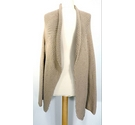 Hobbs Ladies' Thick-knit Cardigan Beige Brown Size: M