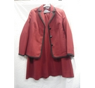 Special Collection Skirt Suit Red and Black Size: 14
