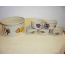 Royal Worcester Evasham Souffle case and 5 ramekins