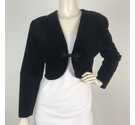 Dorothy Perkins Cropped Velour Jacket Black Size: 12