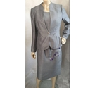 Jacques Vert Dress suit Silver grey Size: 10