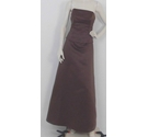 Bella Formals By Venus Strapless Beaded Evening Gown Brown Size: 16