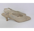 IVORY Bond Street Sling Back Shoes Pale Gold Mesh Size: 4