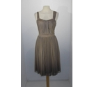 Oasis Belle Dress Light Brown Size: 8