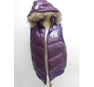 MLB Official Product Sleeveless paddedhooded jacket Grape Size: XXL