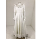 Unbranded Gathered Sheer Wedding Dress White Size: XS