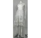 Unbranded Sheer Layer Wedding Dress White Size: XS