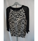 Karen Millen Jumper Black and White Size: 12