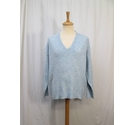 M&Co Soft 'V' Neck Jumper Pale Blue Size: L