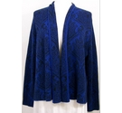 C C Open front cardigan Blue & black Size: XL