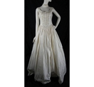 Hayley J-Size 10-Champagne-Ball Gown Wedding Dress With Choker Detail