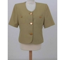 Jacques Vert A short suit jacket Green Size: 12