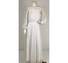Ceremonia Sheer Wedding Dress White Size: XS