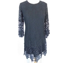 Rebellion Short lace dress Black Size: M