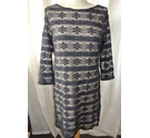 Phase Eight Lace Overlay Dress Navy, Beige Size: 12