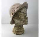 Beige Kangol hat with Flower Detail One Size