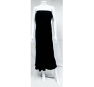 No Brand Satin And Velvet Evening Dress Black Size: 12