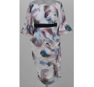 Little Mistress Maternity floral print body-con dress pink/cream mix Size: 8