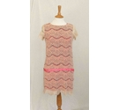 Marella Pink Lace dress Pink / Cream Size: S