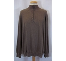 JOS A BANK Mens 1/4 Zip Jumper Brown Size: XL