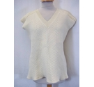 Alexander Mcqueen Sleeveless wool Top -loose fit Cream Size: XS