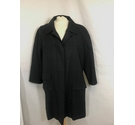 Prada lightweight mid length coat charcoal & Blue Size: 10