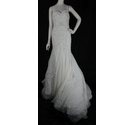 Watters Brides-Size 12/14-Ivory-Minerva Embellished Silk Chiffon Mermaid Gown