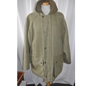 Country Wear Clothing Tweed Outdoor Jacket Olive, Brown Size: L