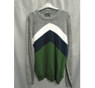 M&S Collection Boldly Striped Jumper, Khaki Mix Size: L