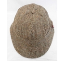 Harris Tweed Wool Hat Brown Mix Size: M