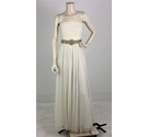 Anoushka G Strapless Evening Gown White Size: 14