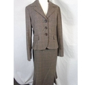 Max Mara SUIT BROWN/PINK/GREY Size: 12