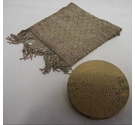 Vintage compact with chain mail bag