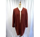 Sarah Duncan Long Cardigan Burnt Orange Size: One size: regular