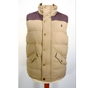 Tom Joule Men's Quilted Gilet Beige and Brown Size: M