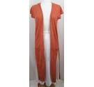 River Island Long sleeveless cardigan Orange mix Size: 6