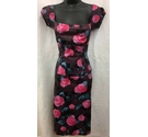 Karen Millen 50s Wiggle 2 Piece Pencil Skirt Suit Floral Size: 8