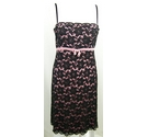 JFW Pink lined lace dress Black Size: 12