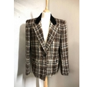 Valentino Check Jacket Brown Size: 10