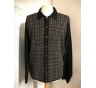 Versace Jeans Couture Check Merino Cardigan Black & Brown Size: M