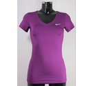 Nike Nike Pro Short-Sleeve Top Purple Size: S