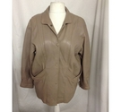 Noble Leather Jacket Taupe Size: M