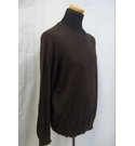 Matalan Luxury Cotton with Cashmere Jumper Brown Size: L