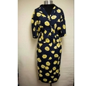 Betty Barclay Matching Skirt & Blouse Suit Blue & Yellow Size: 8