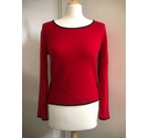 35 Cashmere Jewel-Neck Sweater Red Size: S