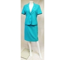Edinburgh Wool Mill Short leeved Skirt Suit . Turquoise Size: 10