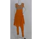 Unbranded Embellished Salwar Kameez Set Orange Size: M
