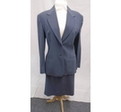Jaeger Skirt & Jacket Smart Suit Grey Size: 12