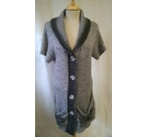 G.W Short Sleeved Cardigan Grey Size: 14