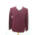 White Stuff lambswool blend V neck jumper sweater smart red maroon Size: S